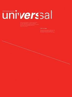 Kendall Henderson #univers #poster #typography