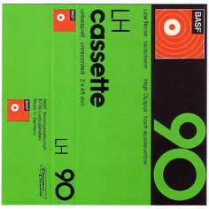 hysysk. #cassette #packaging #bold #numbers #green