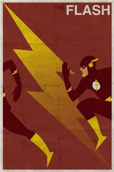 Vintage Style Comic Character Posters | Paper Crave #flash #vintage #poster