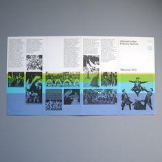 Otl Aicher 1972 Munich Olympics - Leaflets #otl #olympics #aicher