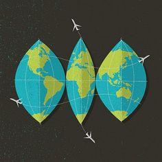 Flickr: brentcouchman's Photostream #map #illustration #texture #world #travel #globe