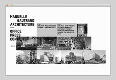 Manuelle Gautrand #website #layout #design #web