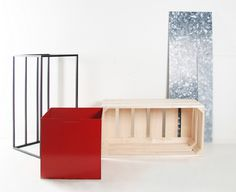 Nonsystem furniture by Su Jung-Cheng #milk #industrial #crate #shelving