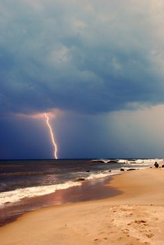 Sleepless Dreams #lightning #sand #photography #storm #beach #illumination #coast
