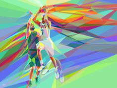Tsevis's Neo Cubism #neo #geometry #design #tsevis #cubism #colorful #sports