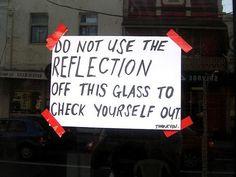 tumblr_leyly2b5eE1qz7lxdo1_500.jpg (JPEG Image, 500x375 pixels) #reflection #poster #street