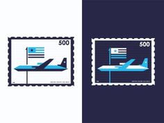 Dribbble - US Airmail 01 by Ray Ureña #states #stamp #postage #united #service #postal #usa