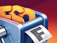 FontSieve Mac App Icon #font #icon #ramotion #macos #design #box #store #app #mac