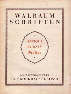 Daily Type Specimen | A specimen of Walbaum Schriften from Ralf... #specimen #typography