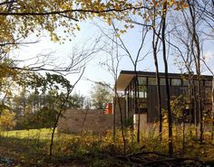 Encircled by Nature: Minimalist Fieldstone House in Wisconsin #architecture