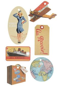 vintage luggage tags | Tumblr