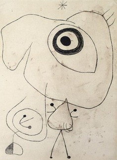 Joan Miró - Personnage, oiseau, étoile