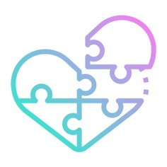 See more icon inspiration related to love and romance, Jigsaw, puzzle pieces, heart shaped, creativity, gaming, puzzle, heart and love on Flaticon.