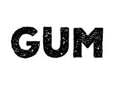 Gum #lettering #gum #texture #block #type #hand #typography
