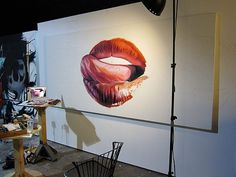 Pow Wow « PICDIT #red #lips #wow #wall #art #pow