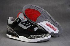 Jordans Sneakers 3 III Black and Grey Ladies