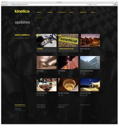 Web2 #yellow #black #minimal #webdesign
