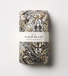 Fleur de lys, package design #packaging #soap #design
