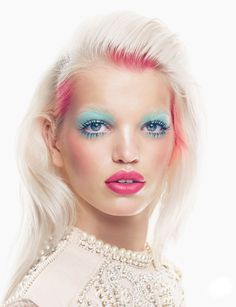 Daphne Groeneveld by Patrick Demarchelier for Vogue UK #model #girl #pink #makeup #photography #portrait #fashion #beauty