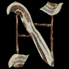 Bacon Alphabet | CMYBacon #hargreaves #gothic #letter #henry #type #bacon #typography