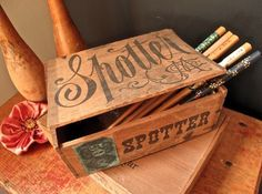 Cafe Cartolina: Ebay score - the Spotter box #type #spotter #vintage #box