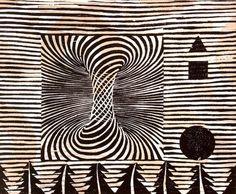 Saatchi Online Artist: Tarrvi Laamann; Woodcut, 2012, Printmaking #woodcut #jamaica #print #hurricane