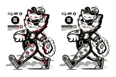 MGNG X NINERS. on Behance #print #design #illustration #behance #character