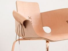 Laceup Leather Shoemaker Chair