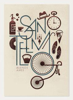San Telmo - Buenos Aires. Poster by Jorge Lawerta