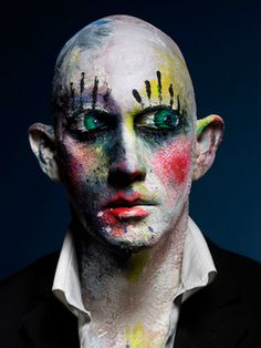 Clown Face self Portrait by PEROU #portraits #celebrity #photography