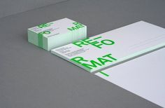 Re-Format - Re-Format Stationery #branding #format #design #re #identity #logo