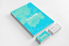 Maho #business #stationary #card #colors #logo #blue