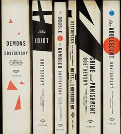 Dostoevsky book spines.