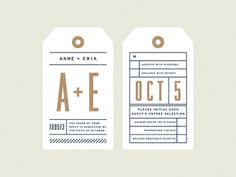 Anne + Erik Wedding - RSVP Card #stamp #tag #wedding