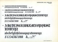 Engraver's Old English font specimen #type #specimen #typography