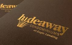 Blend: Work:: Hideaway Condominiums: Branding, Brochure, Signage, Website, Sales Center #logo #print