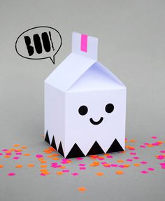 Ghost treat boxes by minieco #gift #tutorial #sweets