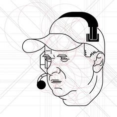 ESPN - Scale 1 to 10 on the Behance Network #vector #geometry #illustration #portrait #muzzi #espn #face #francesco