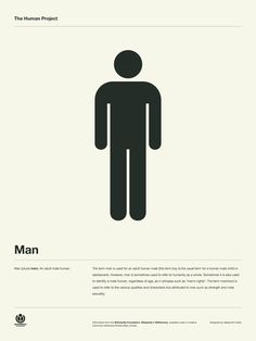 The Human Project Poster (Man) #inspiration #creative #information #collection #design #graphic #poster #typography