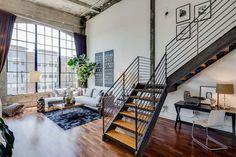 Live/Work Conversion Loft in San Francisco With Vaulted Concrete Ceilings #apartment #ceilings #concrete #loft