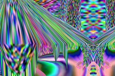 HORT | Foragepress.com #abstract #rainbow #psychedelic