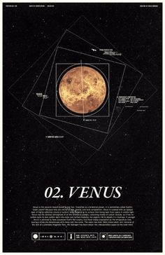 Venus - Under the Milky Way - Ross Berens #venus #space #posters #planets #typography