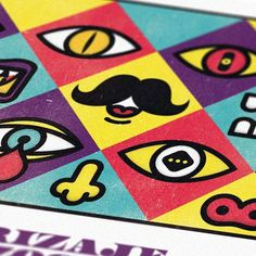 Design;Defined | www.designdefined.co.uk #design #icons #color #eyes #mustache #velckro