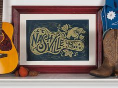 Nashville Song Bird - Block Print