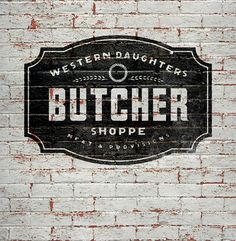 Modern Vintage Logo for Butcher Shop | Once New Vintage