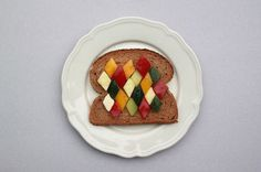 Sandvwich by Sabine Timm #sandwich #plate #pattern #food