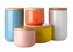Gorgeous ceramic canisters | Products #color #nice #jars