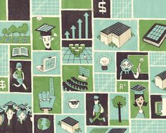GE ecomagination greg kletsel / graphic design + illustration #kietsel #greg #school #texture #illustration #blue #money #green