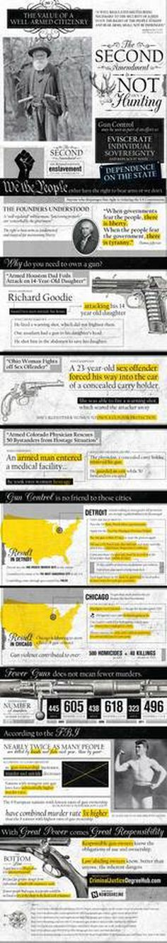 The Value of a Well-Armed Citizenry #infographic #design #graphic