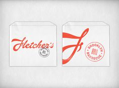 fletcher's #stationary #logos #branding #envelope